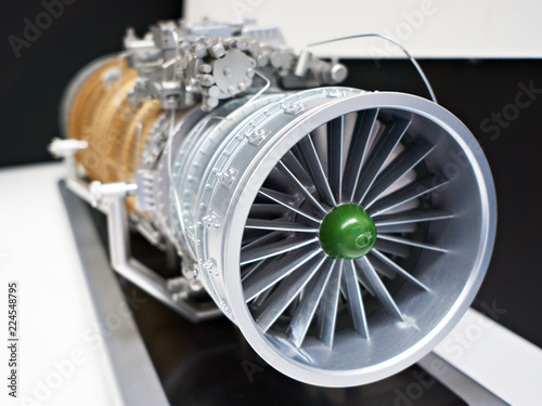 fototapeta na ścianę Turbojet engine for military aircraft fighter
