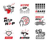 hip hop music element illustration