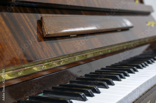 Keys of the piano close up - 224571183