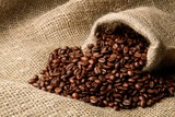 Canvas Sack with Scattered Coffee Beans - 224581500