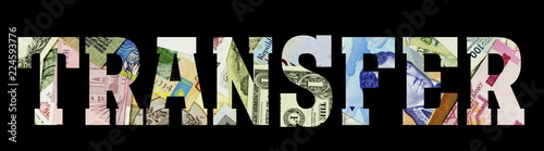 transfer Different Worlds Banknotes. Background for business. Money concept - 224593776