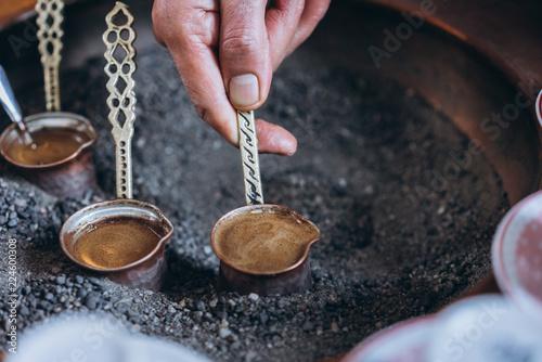 tradycyjna kawa w Turcji, widok z bliska
