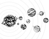 Solar system illustration - 224616143