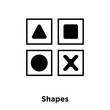 Shapes icon vector isolated on white background, logo concept of Shapes sign on transparent background, black filled symbol - 224624541