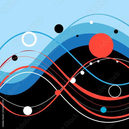 Streszczenie kolorowe tło z falistymi elementami
