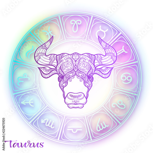 Zodiac sign. Astrological horoscope collection. Vector illustration © elen_lane