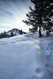 winter morning in snowy Alps - 224696710