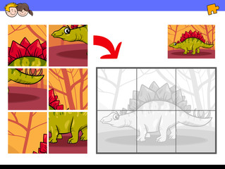jigsaw puzzles with dinosaur animal character