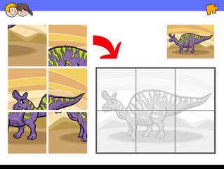 jigsaw puzzles with dinosaur character