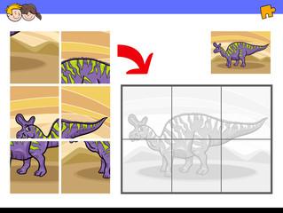 jigsaw puzzles with dinosaur character © Igor Zakowski