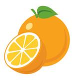 Orange icon vector illustration eps10 isolated on white background
