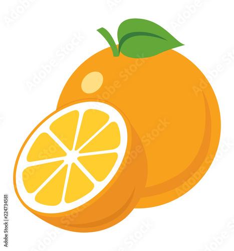 Pomarańczowej ikony wektorowy ilustracyjny eps10 odizolowywający na białym tle
