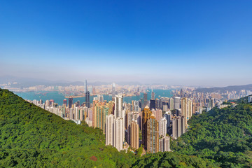 View of the downtown of Hong Kong from Victoria Peak © serjiob74