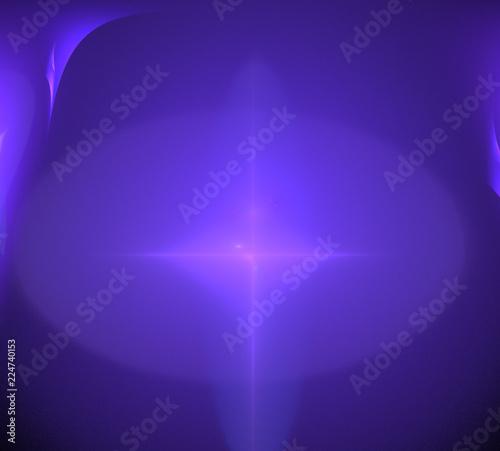 Leinwandbild Motiv image of one Digital Fractal on Black Color