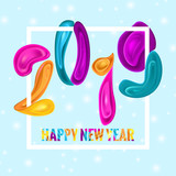 2019 New Ywar Colorful Card Design - 224746145