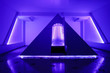 Leinwanddruck Bild - Floating camera in the form of a pyramid in the recreation center