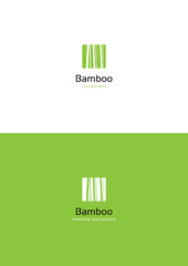 Bamboo logo teamplate. © Pitcher