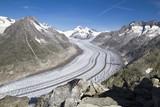 Aletsch Glacier, longest glacier in the Alps