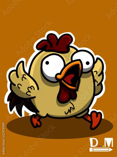 luck el pollito asustado