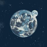 Hand drawn Earth and Moon - 224783546
