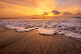 sunset on the beach - 224807586