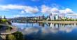 View of Portland, Oregon overlooking the willamette river