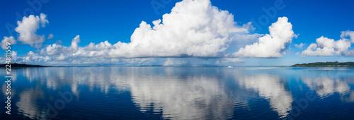 Panoramic of beautiful cloud and sky in ishigaki