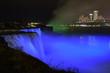 Niagara Falls night with blue shades