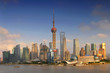 Quadro Shanghai skyline, view of Pudong and the Oriental earl Tower, China.
