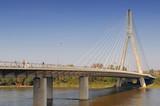 The Swietokrzyski Bridge over Vistula river in Warsaw, Poland.