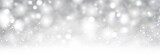 Grey shiny blurred winter banner with snow. - 224840716