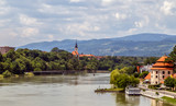 Maribor, Slovenia.View of the old town and the embankment. Travel Slovenia.