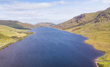 Aerial View of Lough Nafooey in Ireland