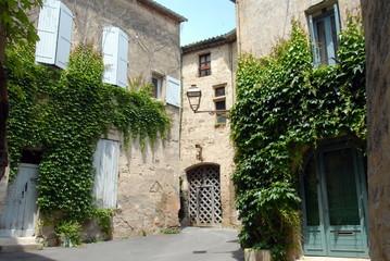 Ville de Pézenas, vieille ruelle du centre historique, vigne vierge grimpe sur les murs, département de l'Hérault, France © Philippe Prudhomme