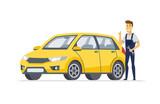 Car service - modern vector cartoon character illustration - 224881319