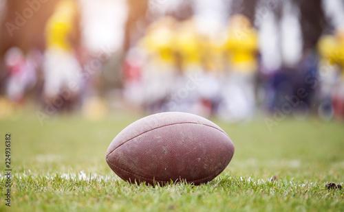 Leinwanddruck Bild American football - ball