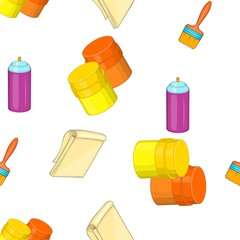 Creativity art pattern. Cartoon illustration of creativity art vector pattern for web © ylivdesign