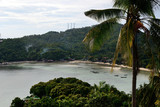View with the palm tree from viewpoint on island in Thailand - 224949972