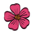 beautiful flower isolated icon - 224977323