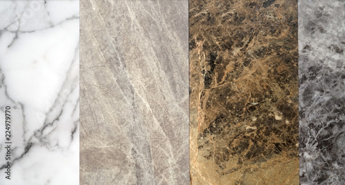 close up on granite sample in store as background - 224979770