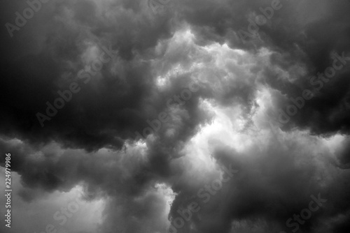 storm cloud before thunder storm, can be used as design background - 224979986