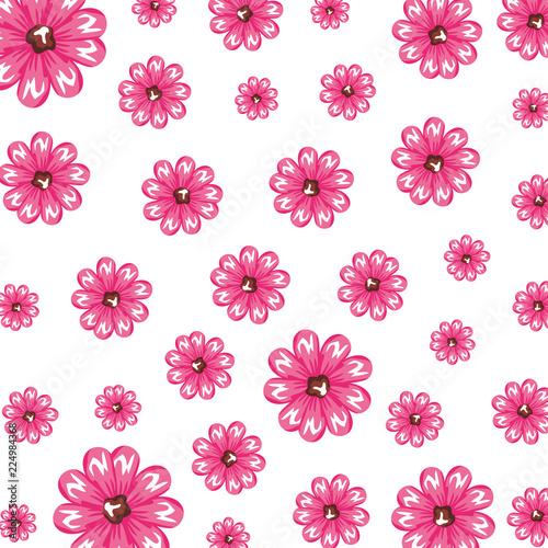 beautiful flowers pattern background - 224984368