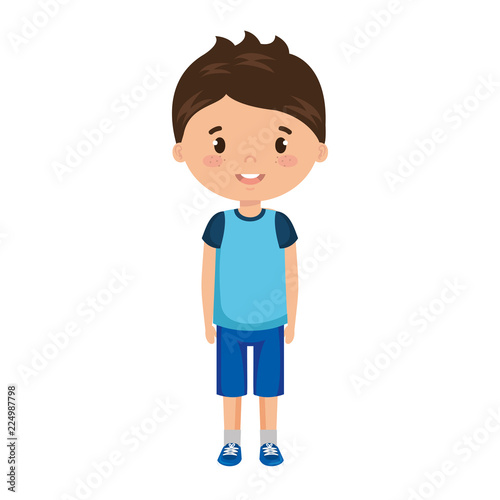 cute and little boy character - 224987798