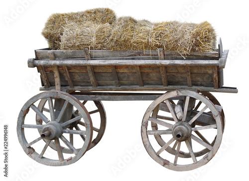 Foto Murales cart with hay