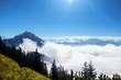 Traumhafter Karwendelblick über die Wolken - 225015387