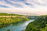 View at the Niagara river in Canada