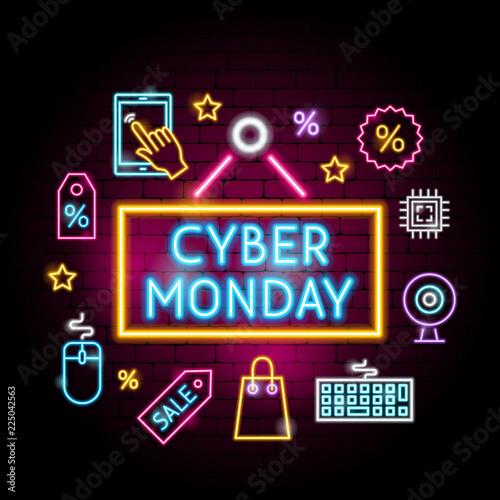 Cyber Monday Neon Concept