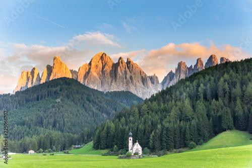 St Johann Church, Santa Maddalena Dolomites Italy