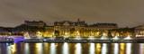 Night panorama of the Paris embankment