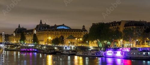 The embankment of Paris at night - 225121579